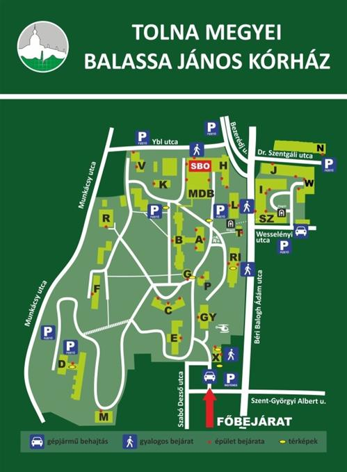 szent jános kórház térkép Térkép   Tolna Megyei Balassa János Kórház szent jános kórház térkép