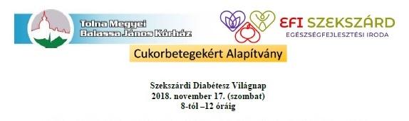A Szekszárdi Diabétesz Világnap PROGRAMJA