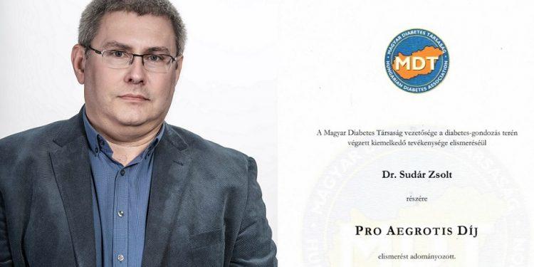 A szakmatársak elismerése: Pro Aegrotis díjat kapott Dr. Sudár Zsolt